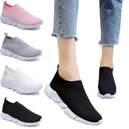 US Women Ladies Mesh Comfy Trainers Walk Sports Sock Sneaker