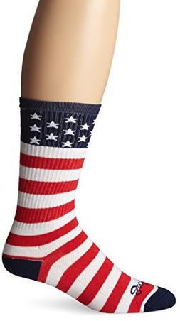 SockGuy Men's USA Flag Socks, White, Sock Size:10-13/Shoe Si