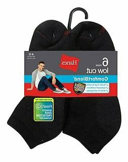 Fruit of the Loom Mens Value Pack Low Cut Socks - 6 Pairs