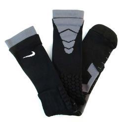 NIKE VAPOR ELITE FOOTBALL CREW SPEED SOCKS Black & Grey Size