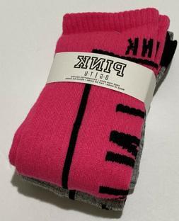 Victoria's secret PINK Socks Knee High Hot pink and Gray  Br