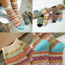 Vintage Style Winter Knitting Warm Wool Crew Socks, Loritta