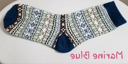 Fair Isle Warm Socks! Cozy Thick Vintage Look Socks! Fits Wo