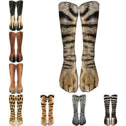 warm 3d printed animal print socks xmas