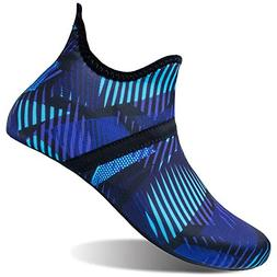 L-RUN Mens Water Sports Shoes Aqua Sock for Beach Navy XXXL=