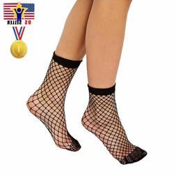 Woman Fishnet Ankle Socks Sheer Girl Fashion Sexy Stocking H