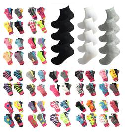Women 12 Pairs Athletic Sports Low Cut Quarter Ankle Crew Co