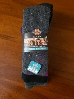 Dickies Women Comfortable Full-Terry Cushion Crew Socks Fash