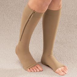 Women <font><b>Zipper</b></font> Compression <font><b>Socks<