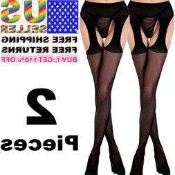 Women Garter Belt Stay Up Fishnet Thigh High Stocking Sock T