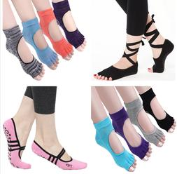 Women Men Yoga Pilates Ballet Exercise Grips Cotton Socks  N