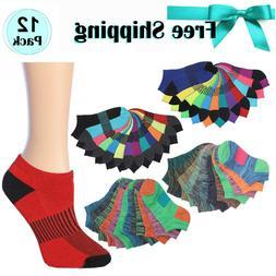 Women's 12 Pack Tipi Toe Cushioned Socks