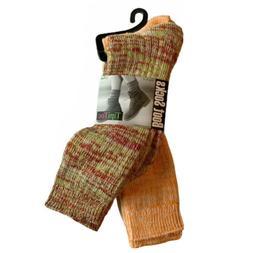 Tipi Toe Women's 2-Pk. Slub Crew Cotton/Poly Boot Socks Size