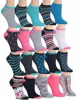 153d68f1e6f Tipi Toe Women s 20 Pairs Colorful Patterned Low Cut No Show