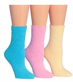 384fb7118f2 Tipi Toe Women s 3-Pairs Cozy Microfiber Anti-Skid Soft Fuzz