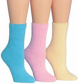 Tipi Toe Women's 3-Pairs Cozy Microfiber Anti-Skid Soft Fuzz