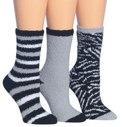 cd532495725 Tipi Toe Women S 3-Pairs Cozy Microfiber Anti-Skid Soft Fuzz