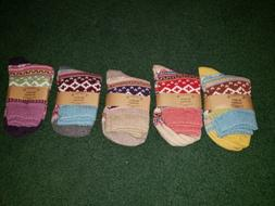 Loritta Women's 5 Pairs Vintage Style Winter Knitting Warm W