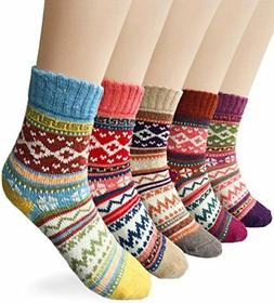 women s 5 pairs vintage style winter