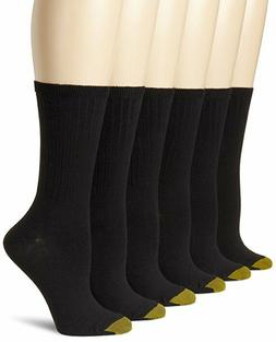 Women's 6-Pack Cotton Ribbed Crew Athletic Sock White 9-11