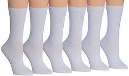 Tipi Toe Women's 6-Pairs Colorful Patterned Crew Socks