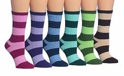 Tipi Toe Women's 6-Pairs Cotton Ragg Ruffle Soft Winter Boot