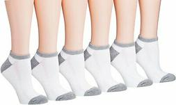 Tipi Toe Women's 6-Pairs Low Cut/No Show Athletic Sport Sock