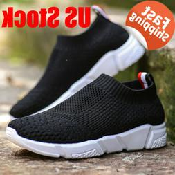 Women's Casual Athletic Flats Sport Sock Shoes Slip On Runni