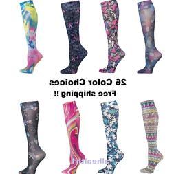 Cherokee Women's Compression Nurse Socks Hosiery Knee High 1
