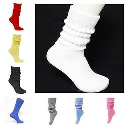 Women's Heavy Cotton Workout Exercise Slouch Socks Size 9-11