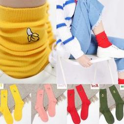 Women's Kawaii Cute Fruit Print Soft Breathable Cotton Socks