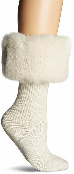 Women's Socks UGG Faux Fur Tall Rainboot Sock 1018817 Cream