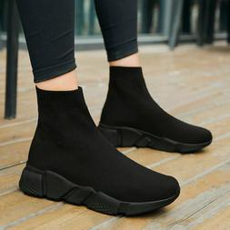 Women's Socks Shoes Couple High Top Sneakers Sports Running
