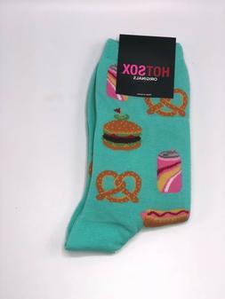 Women's Street Food HotSox Crew Socks Teal New Women's Hosie