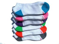 Hanes Women's Ultimate No-Show Socks 6-Pack Assorted Colors