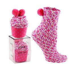 Women Warm Ankle Socks - KEAZA SQ01 Christmas Gift Cake Desi