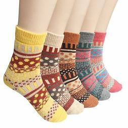 Loritta Womens 5 Pairs Vintage Style Winter Knitting Warm Wo