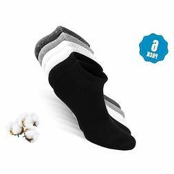 Womens & Mens Low Cut Socks,DIBAOLONG 6-Pair Ankle No Show A