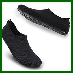 b38f1aff83f7 ALEADER Womens Mens Beach Water Shoes Barefoot AQUA Socks Fo