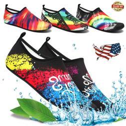 Womens Mens Quick-Dry Barefoot Water Skin Shoes Aqua Socks F