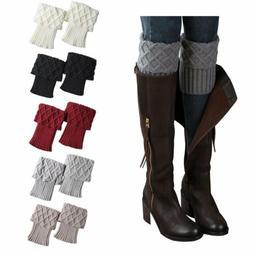 Bestjybt Womens Short Boots Socks Crochet Knitted Boot Cuffs