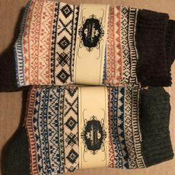 Loritta Womens Wool Blend Crew Socks X2