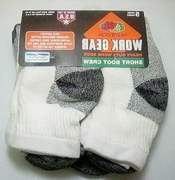 Fruit of the Loom Work Gear Short Boot Crew Socks, 5 pack on