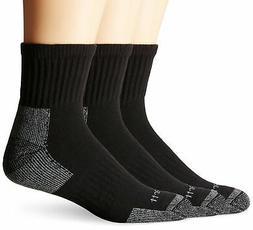 Carhartt Men's 3 Pack Work Quarter Socks,  White, Shoe: 6-12