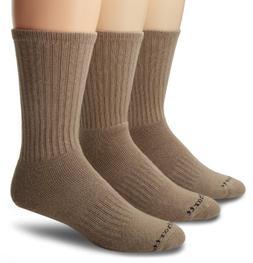 Carhartt Mens 3 Pack Work Wear Cushioned Crew Socks,  Khaki,