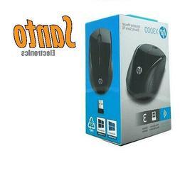 HP X3000 Wireless Mouse Optical Black USB 1200dpi K5D27AA#AB