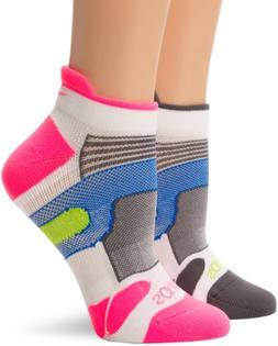 Saucony XP Light Cushioned Socks , Medium, White/Pink