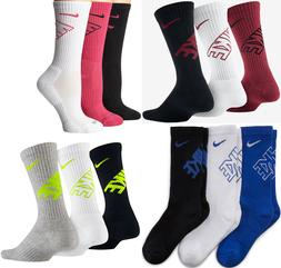 Nike Youth Boys Performance Cotton Cushion DRI-FIT Crew Sock