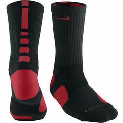 Nike Youth Elite Basketball Crew Socks Black Red SX4586-002
