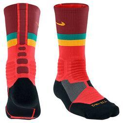 Nike Youth Hyper Elite Fanatical Crew Socks Red Orange Black